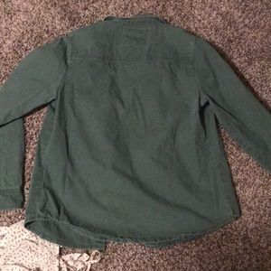 Forever 21 Jackets & Coats - Green army jacket and sheer floral tank size S
